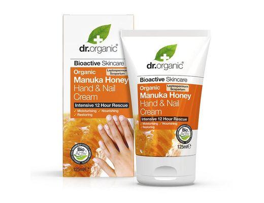 Dr. Organic Manuka Honey krem fyrir hendur og neglur 125 ml.