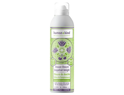 Human+kind Shower Mousse Grapefruit Delight 200 ml.