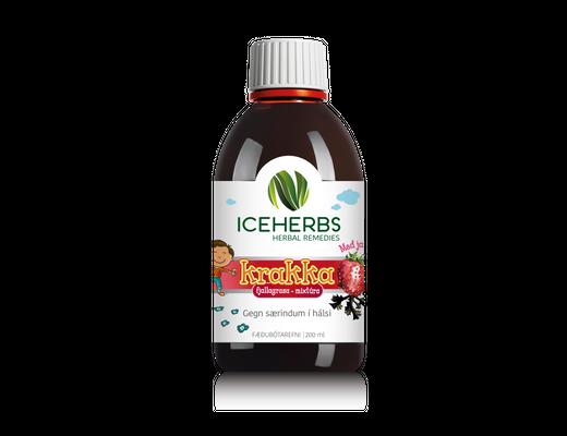 Iceherbs krakkamixtúra jarðaberjabragð 200 ml.
