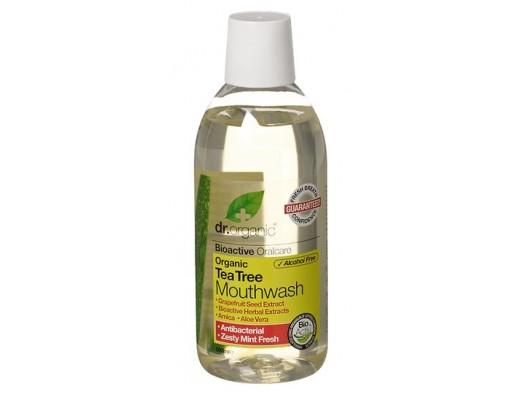 Dr. Organic Tea Tree Mouthwash 500 ml.