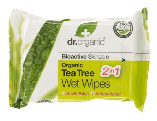 Dr. Organic Tea Tree blautklútar 20 stk.