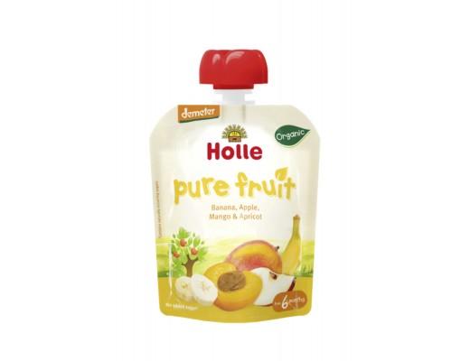 Holle skvísa með banönum/epli/mangó/aprikósu 90 gr.
