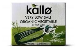 Kallo grænmetiskraftur - minna salt 6 stk.
