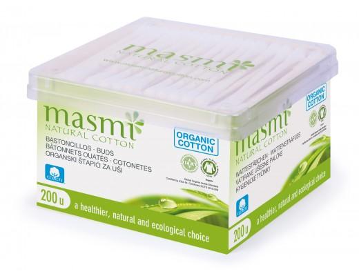 Masmi Organic eyrnapinnar 200 stk.