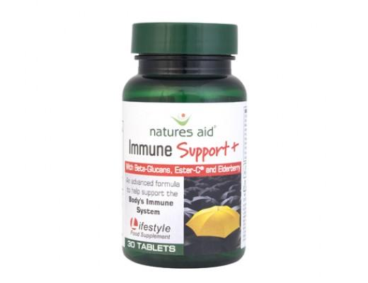 Natures Aid Beta-Clucans Immune Support+ 30 töflur