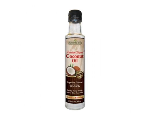 Natures Aid Coconut oil fljótandi 250 ml.