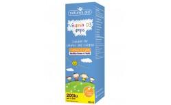 Natures Aid Vitamindropar fyrir börn D3 200iu, 50 ml.