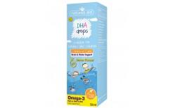 Natures Aid Vítamíndropar DHA omega 3 fyrir börn 50 ml.