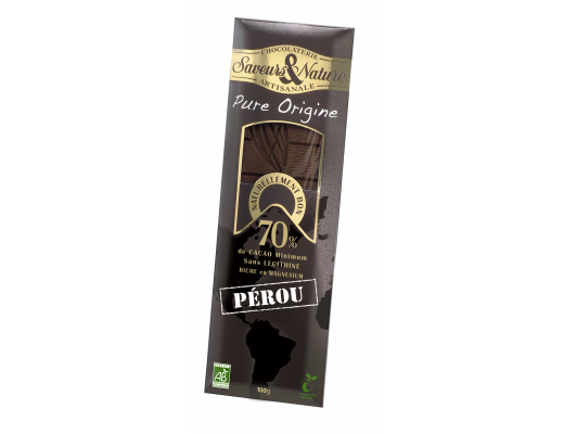Saveurs & Nature Lífrænt 70%  Grand Cru Peru 100 gr.