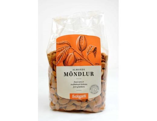 Sólgæti Möndlur lífrænar heilar 500 gr.