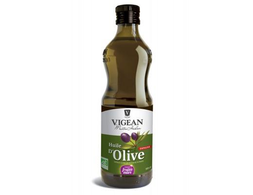 Vigean Lífræn Ólífuolía svartar ólífur 500 ml.
