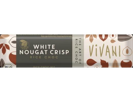 Vivani White Nougat Crisp bar 35 gr.