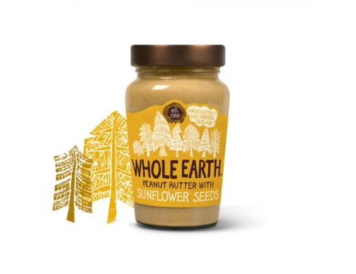 Whole Earth hnetusmjör sólblómafræ 340 gr.