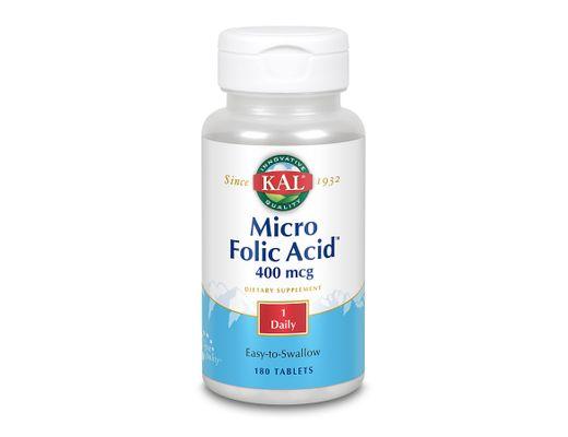 KAL Micro Folic Acid 400mcg 180 töflur
