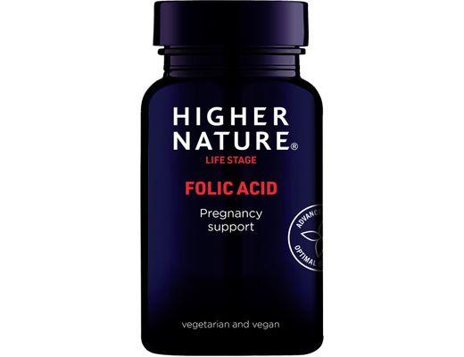 Higher Nature Folic Acid 400ug 90 hylki
