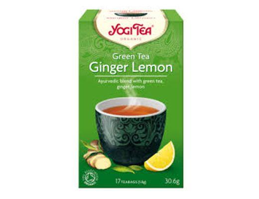 Yogi Tea Green Tea Ginger Lemon 17 tepokar