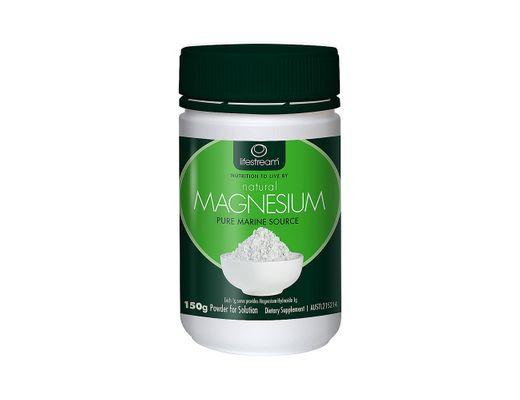 Lifestream Natural Magnesium, þörungamagnesíum, duft 150 gr.