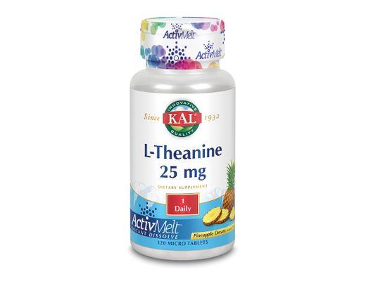 Kal L-theanine 25 mg litlar 120 töflur