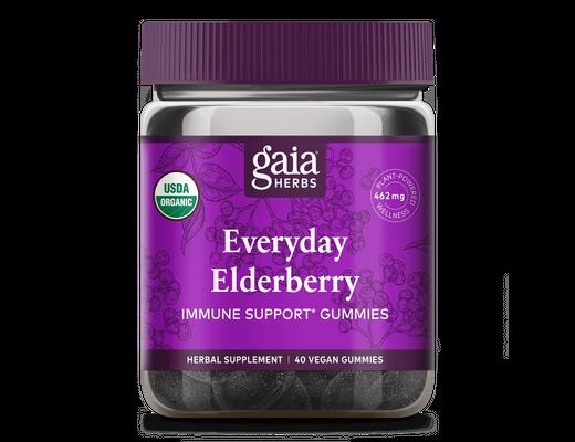 Gaia Herbs Everyday Elderberry 40 víngúmmí