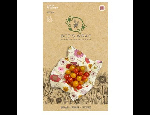 Bee's Wrap þrjár í pakka VEGAN #Blómamunstur