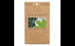 Bee's wrap þrjár í pakka #Laufblaðamunstur