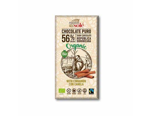 CHOCOLATES SOLÉ lífrænt súkkulaði með kanil 100 gr.