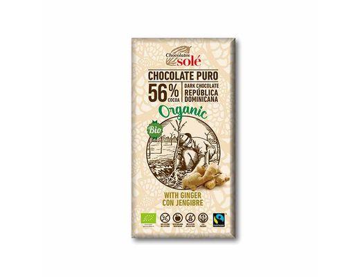 CHOCOLATES SOLÉ lífrænt súkkulaði með engifer 100 gr.