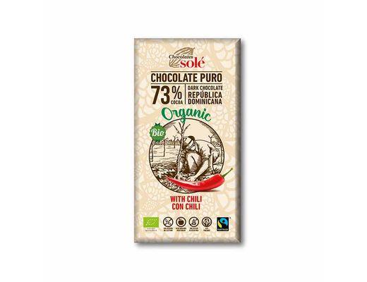 CHOCOLATES SOLÉ LÍFRÆNT SÚKKULAÐI með Chilli 150 gr.