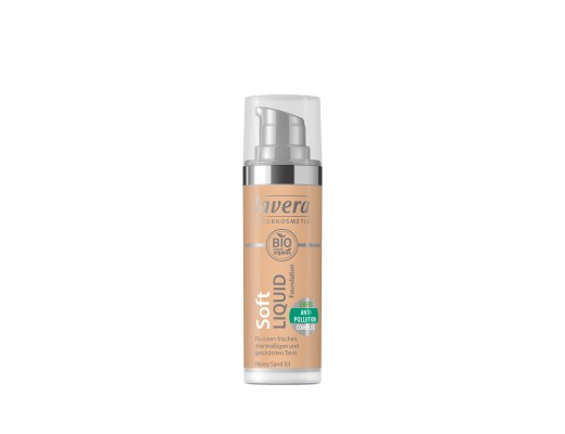 Lavera SOFT LIQUID FOUNDATION #Honey Sand 03