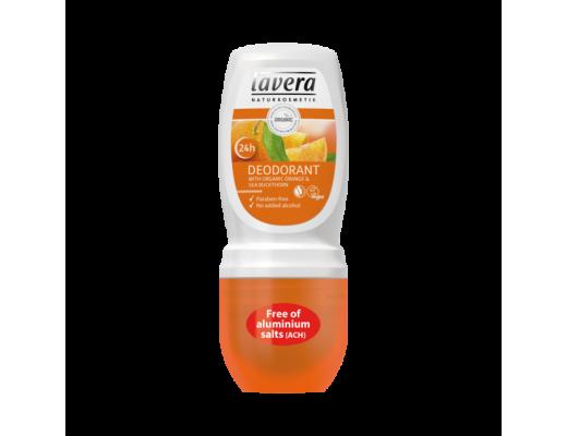 Lavera svitaeyðir roll on Orange 24Hour, 50 ml.
