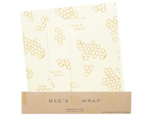 Bee's Wrap þrjár arkir í pakka býflugnamunstur