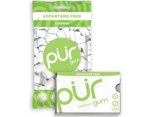 Pur Coolmint gum blister 9 stk., 12.6 gr.