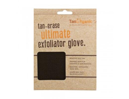 Tan Organic exfoliator glove