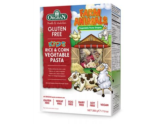 Orgran Farm Animals Rice & Corn grænmetispasta 200 gr.