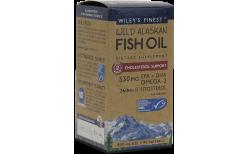 Wileys Wild Alaskan Fish Oil Cholestrol Support 530mg, 90 mjúk hylki