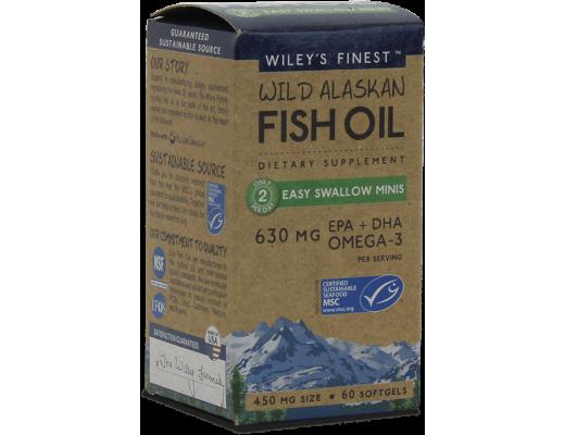 Wileys Wild Alaskan Fish Oil Easy Swallow 630mg, 60 hylki