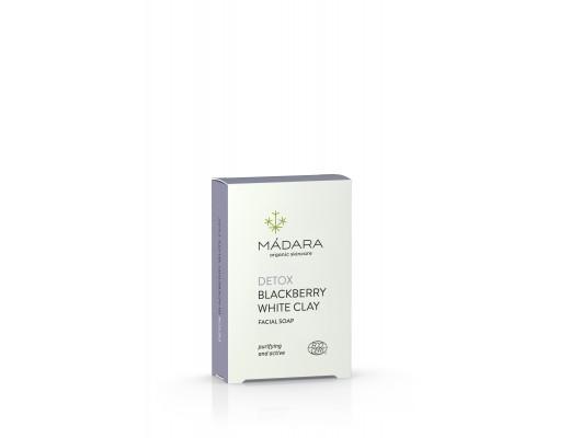 Mádara Detox White Clay & Balckberry andlitssápa 70 gr.