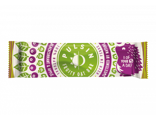 Pulsin Blackcurrant & Apple Oat bar 25 gr.