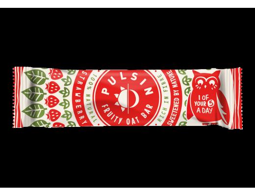 Pulsin Strawberry Oat bar 25 gr.