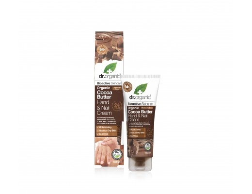 Dr. Organic Cocoa Butter Hand & Nail Cream 100 ml.