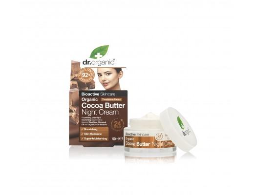 Dr. Organic Cocoa Butter næturkrem 50 ml.