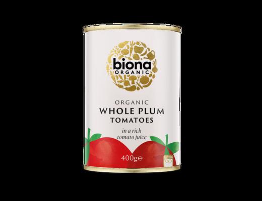 Biona Organic tómatar heilir 400 gr.