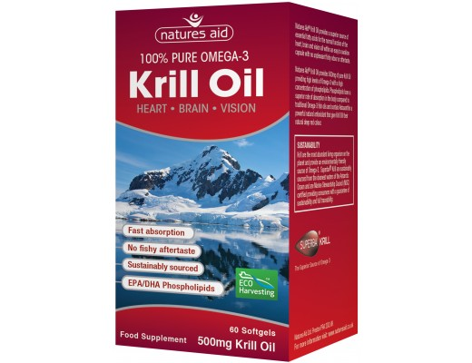 Natures aid Krill Oil 100% Pure Omega-3 500 mg.