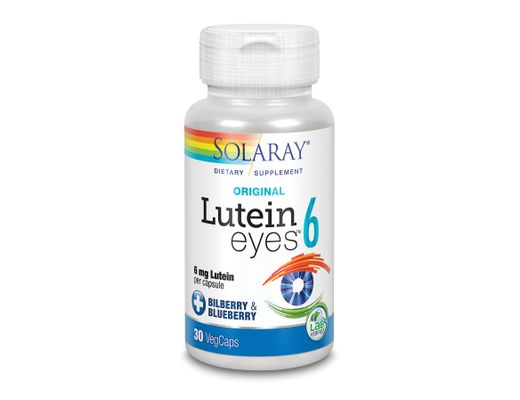 Solaray Lutein Eyes 6mg, 30 hylki