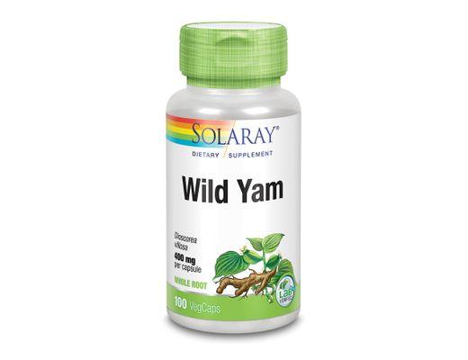 Solaray Wild Yam Root 400mg, 100 hylki