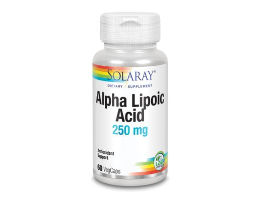 Solaray Alpha Lipoic Acid  250mg, 60 stk.