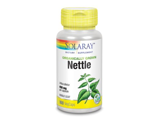 Solaray Nettle Leaves 450mg, 100 hylki