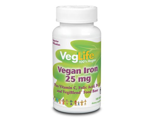 Veglife Vegan Iron 25mg 100 stk