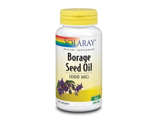 Solaray Borage Seed Oil 1000mg, 50 mjúk hylki