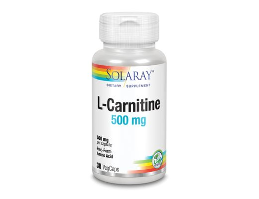 Solaray L-Carnetine 500mg, 30 stk.